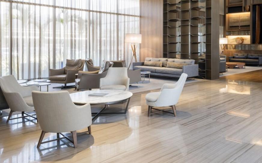 flexform einrichtung im hilton rio barra. Black Bedroom Furniture Sets. Home Design Ideas