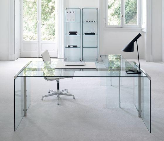 Scrivania gallotti radice president a como for Scrivania vetro ufficio