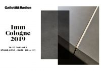Gallotti&Radice announces its attendance at Imm Cologne 2019