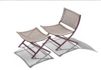 Peter chair by Flexform dressed for Outdoors
