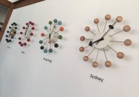 Ball Clock Wood/Meta Multicolorl